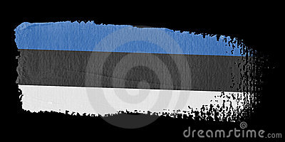 Brushstroke Flag Estonia