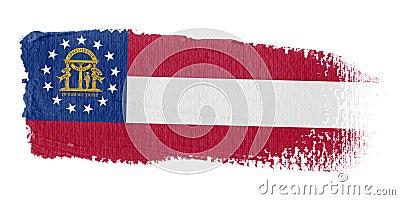 Brushstroke Flag Georgia