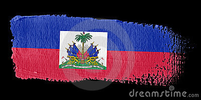 Brushstroke Flag Haiti