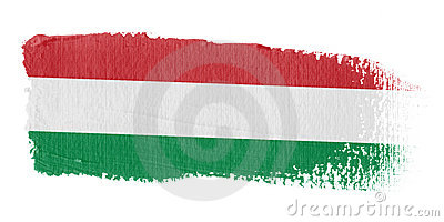 Brushstroke Flag Hungary