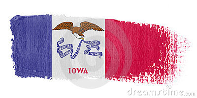Brushstroke Flag Iowa