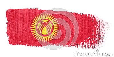 Brushstroke Flag Kyrgyzstan