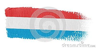 Brushstroke Flag Luxembourg