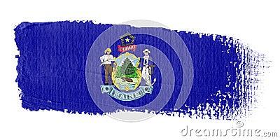 Brushstroke Flag Maine
