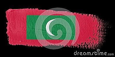 Brushstroke Flag Maldives