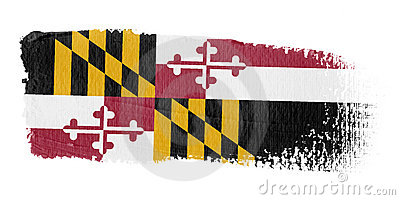 Brushstroke Flag Maryland