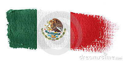 Brushstroke Flag Mexico