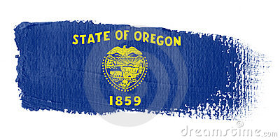 Brushstroke Flag Oregon