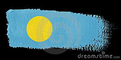 Brushstroke Flag Palau