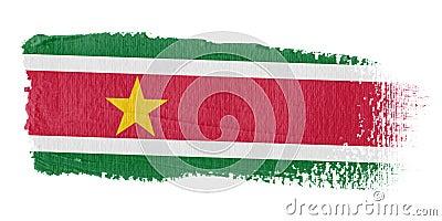Brushstroke Flag Suriname