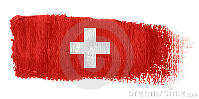 Brushstroke Flag Switzerland