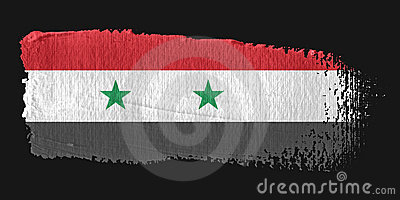 Brushstroke Flag Syria