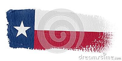 Brushstroke Flag Texas