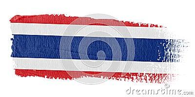 Brushstroke Flag Thailand