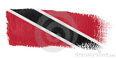 Brushstroke Flag Trinidad and Tobago