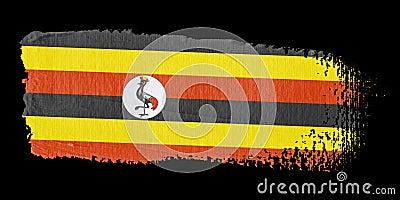 Brushstroke Flag Uganda