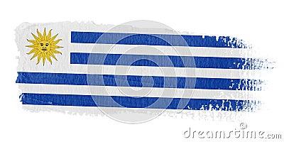 Brushstroke Flag Uruguay