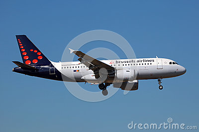 Brussels Airlines Airbus A319 Editorial Photo