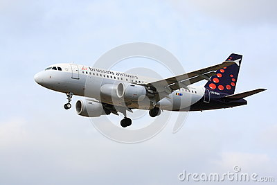 Brussels Airlines Airbus A320 Editorial Stock Image