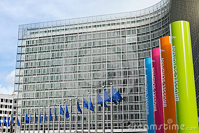 Brussels, Belgium – February 24, 2014: Photo of European Union Editorial Photo