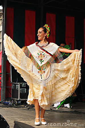 Dancer of Xochicalli Mexican folkloric ballet Editorial Photo
