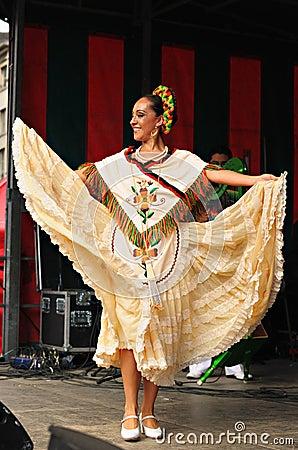 Dancer of Xochicalli Mexican folkloric ballet Editorial Photo