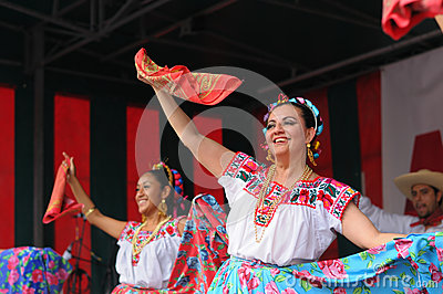 Dancers of Xochicalli Mexican folkloric group Editorial Photography