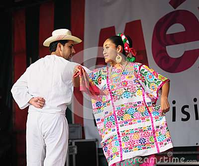 Xochicalli Mexican folkloric group Editorial Stock Image