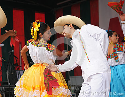 Dancers of Xochicalli Mexican folkloric ballet Editorial Photo