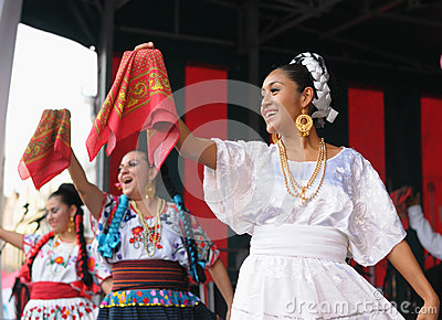 Dancers of Xochicalli Mexican folkloric ballet Editorial Stock Image