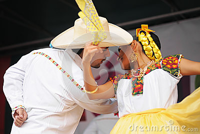 Dancers of Xochicalli Mexican folkloric ballet Editorial Stock Photo