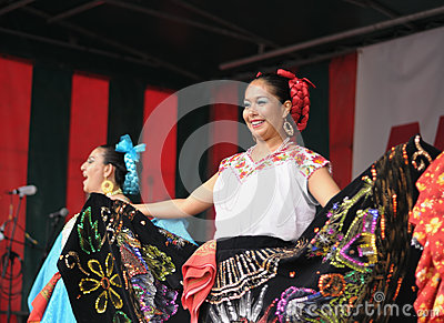 Dancers of Xochicalli Mexican folkloric ballet Editorial Image