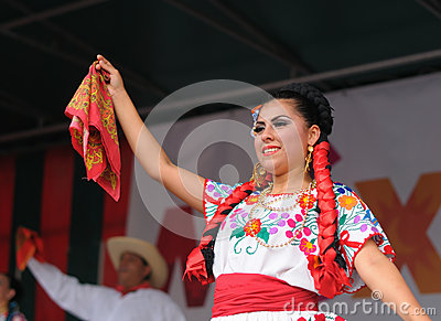 Xochicalli Mexican folkloric ballet Editorial Stock Photo