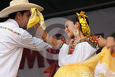Xochicalli Mexican folkloric ballet Editorial Stock Image