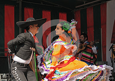 Mexican folkloric ballet Editorial Stock Image