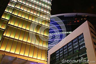 Brussels, buildings by night
