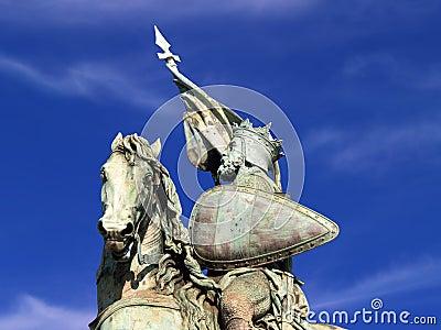 Brussels crusader statue