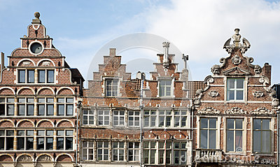 Brussels - The facade of typical houses