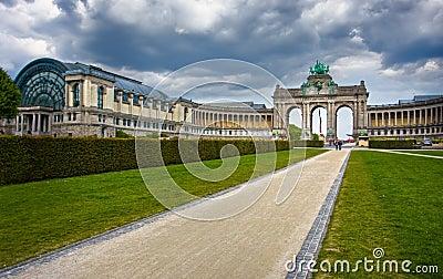 Brussels. Famous triumphal arch