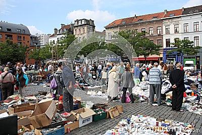 Brussels flea market Editorial Photo