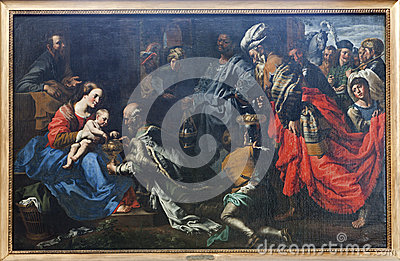 Brussels - paint of Adoration of Three Magi