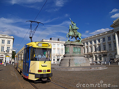 Brussels Royal Square & tram