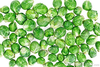 Brussels sprouts macro food background