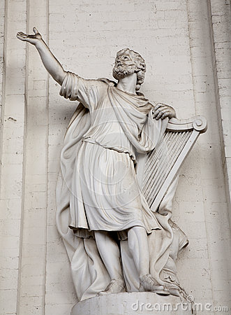 Brussels - statue of king David