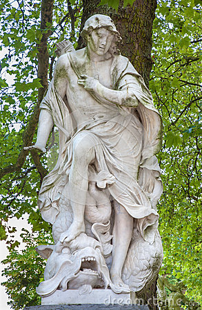 Brussels - statue from mythology