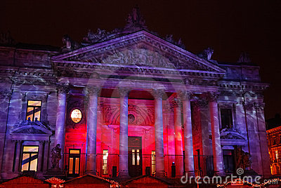 Brussels Stock Exchange Editorial Stock Photo
