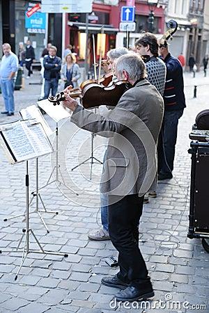 Brussels Street Quartet Editorial Image