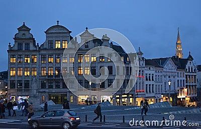 Bruxelles at night Editorial Image