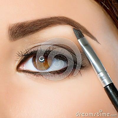 Brwi makeup