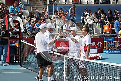 Bryan(USA)/ Bryan (USA) vs Soares (BRA)/Ullyett (Z Editorial Photo